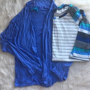 Bundle of two tops - cardigan and tee, large